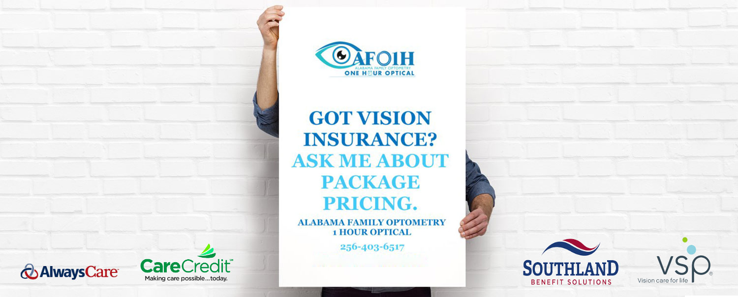Special Package Pricing On Eyewear & Contact Lens At Alabama Family Optometry